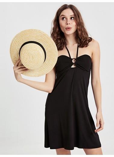 LC Waikiki Plaj Elbisesi Siyah